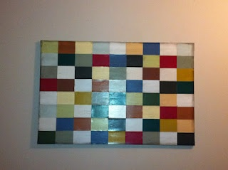 Easy paint chip wall art. AWESOME!