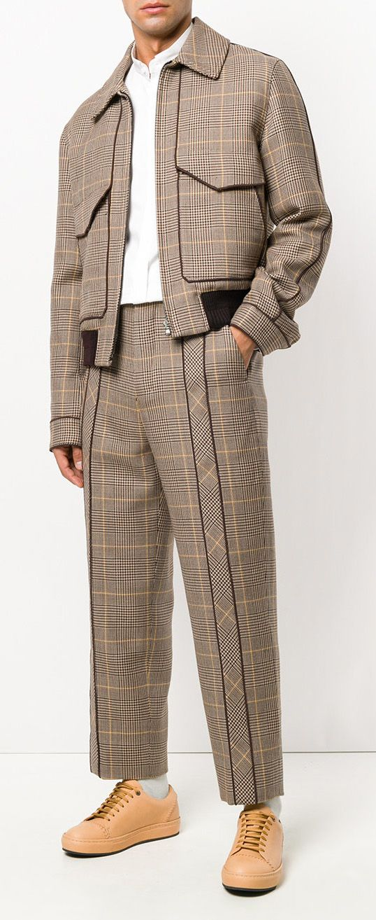 WOOYOUNGMI pleated plaid tailored trousers, explore on Farfetch now.  Mens Fashion | #MichaelLouis - www.MichaelLouis.com
