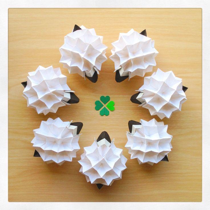origami: happy sheep year! go baaaa!! (^_^)☆