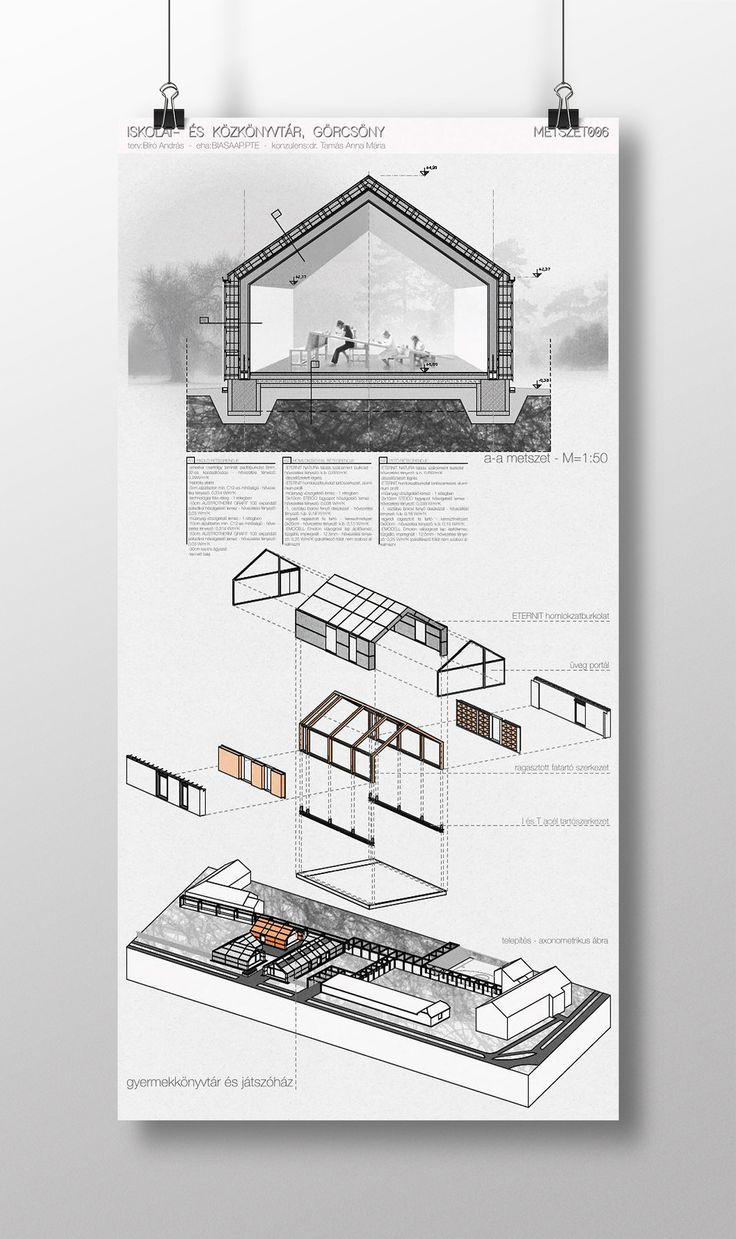 This is how I can imagine a little school library in a tiny hungarian village. Diploma project 2014.