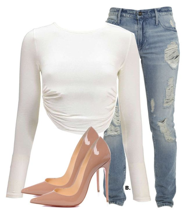 """""""Untitled #1025"""" by styledbybelle ❤ liked on Polyvore featuring Christian Louboutin"""
