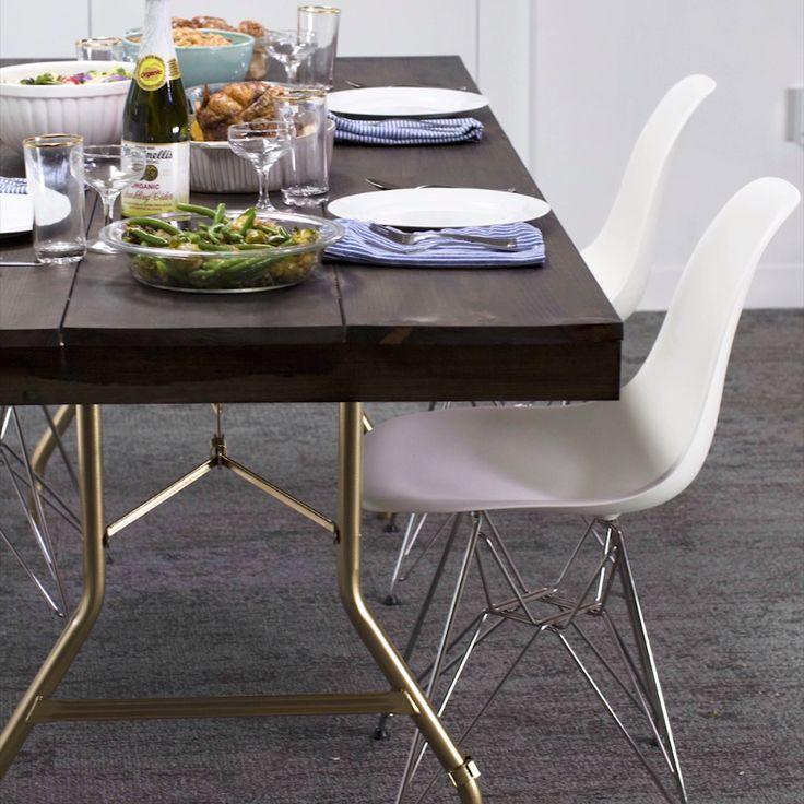 Folding Table Makeover // #foldingtable #home #decor #DIY #table