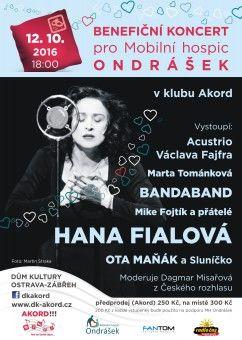 DK AKORD | Program Kurzy | Kalendář akcí | Koncerty | BENEFIČNÍ KONCERT PRO MOBILNÍ HOSPIC ONDRÁŠEK