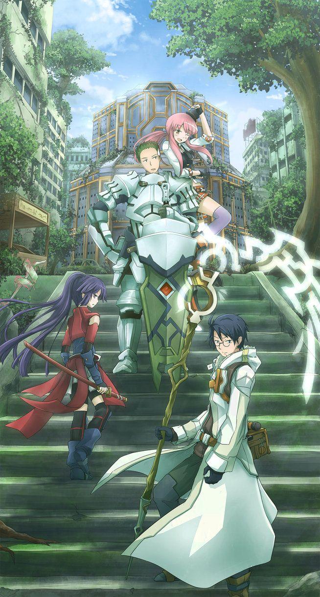 Shiroe, Akatsuki, Naotsugu, and Tetora from Log Horizon 2