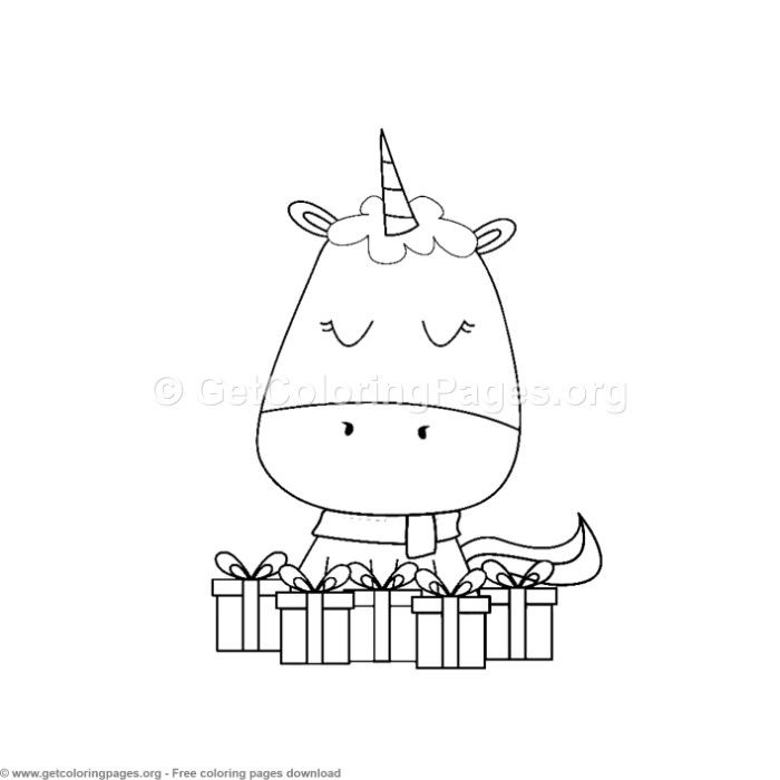 1 Cute Christmas Unicorn Coloring Pages Unicorn Coloring Pages Unicorn Themed Birthday Rainbow Unicorn Birthday