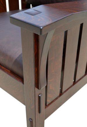 arts and crafts furniture slant arm morris chair design details pinterest kunsthandwerk. Black Bedroom Furniture Sets. Home Design Ideas