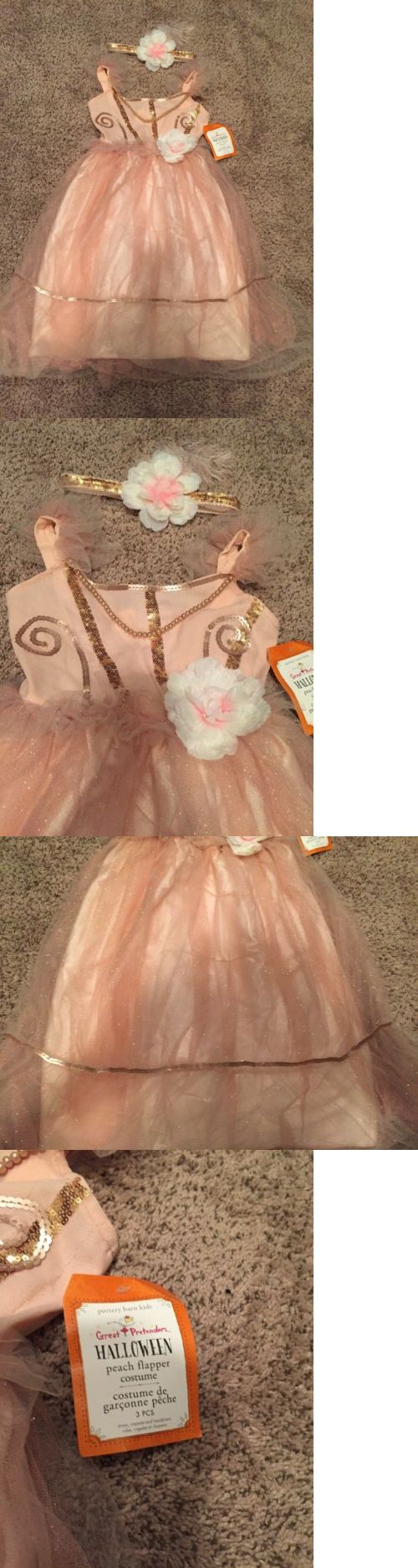 Infants and Toddlers 90635: New Pottery Barn Kids Halloween Peach Flapper Girl Costume Dress 4-6 -> BUY IT NOW ONLY: $33.99 on eBay!
