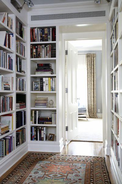 In the hallway: Libraries, Ideas, Bookshelves, Hallways, Built In, Books Shelves, Builtin, House, Bookca