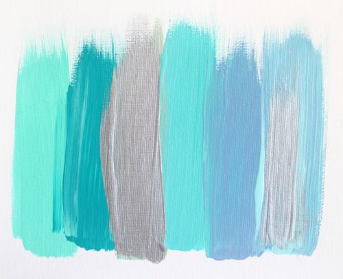 painting in aqua hues