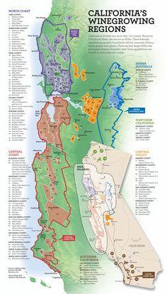 California Wine Map - California • mappery