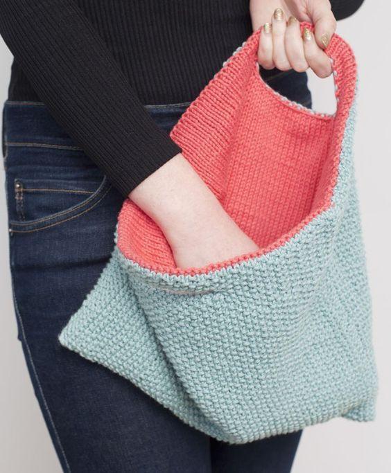 25+ best ideas about Knit Bag on Pinterest Crochet handbags, Knitted bags a...