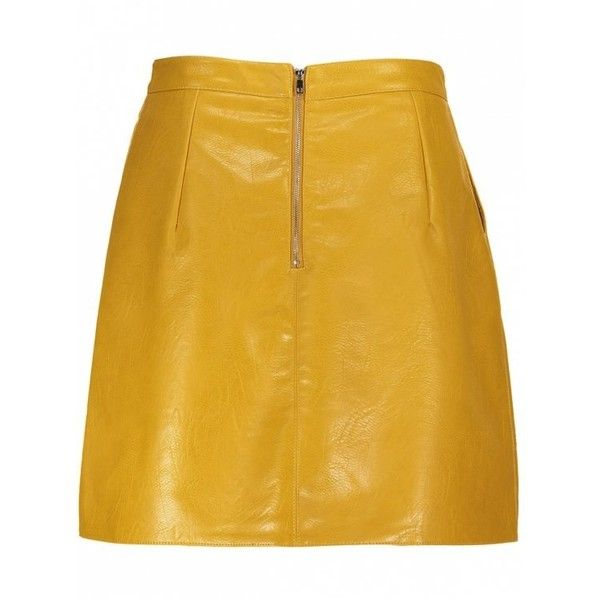 A Line PU Leather Mini Skirt ($15) ❤ liked on Polyvore featuring skirts and mini skirts