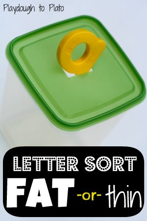 Really fun, hands-on way to help children notice differences between letters.