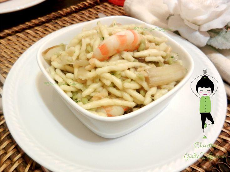 Trofie saporite con asparagi e mazzancolle