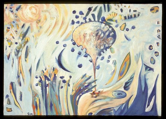 Flying Baloons - Playful landscape and Joyous Imagery. Oil on Canvas