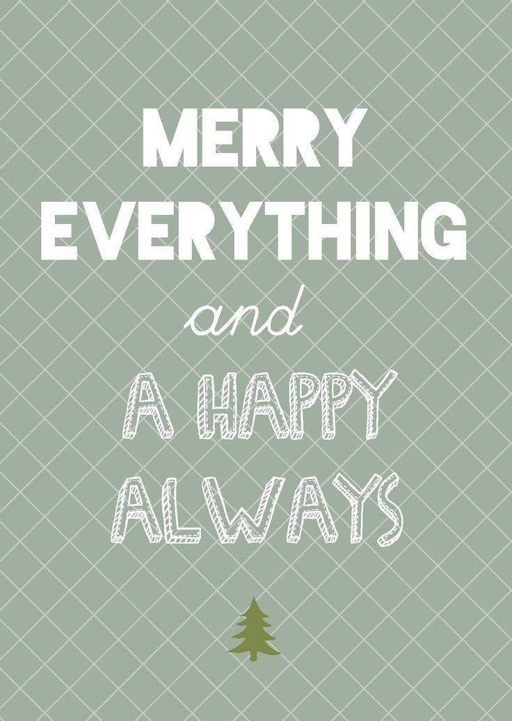 """Kerstkaart pastel Merry eveything and a Happy Always Kerstkaart pastelmet de quote """"Merry eveything and a Happy Always"""" van Studio Inktvis.Met onze pastelkleurige kerstkaart valt u pas echt op. [ssb..."""