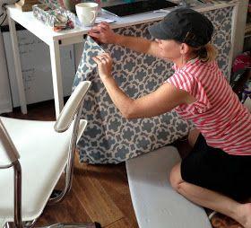 LoveYourRoom: DIY Home Office Desk Skirt Hides Clutter                                                                                                                                                                                 More