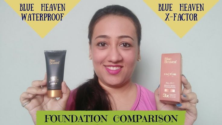 """Blue Heaven Waterproof Foundation VS Blue Heaven X-Factor Foundation    Demo & Tips    Budget Beauty Hello friends ..Today I am sharing a comparision of 2 budget foundations..from same company """"Blue Heaven"""" Thanks a lot for watching my video i hope u enjoyed it and it was helpful... plz share it with your frenz via social sites like watsapp Facebook and or instagram.. Please subscribe to my channel to watch more videos url : https://www.youtube.com/c/Byoutifulwithin Here u will find makeup…"""