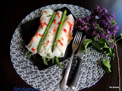 Moje Małe Czarowanie: Wietnamskie, ryżowe naleśniki ze szparagami
