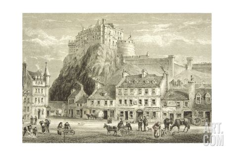 Castle and Grassmarket, Edinburgh in C.1880, from 'scottish Pictures' Published by the Religious… Giclee Print at Art.com