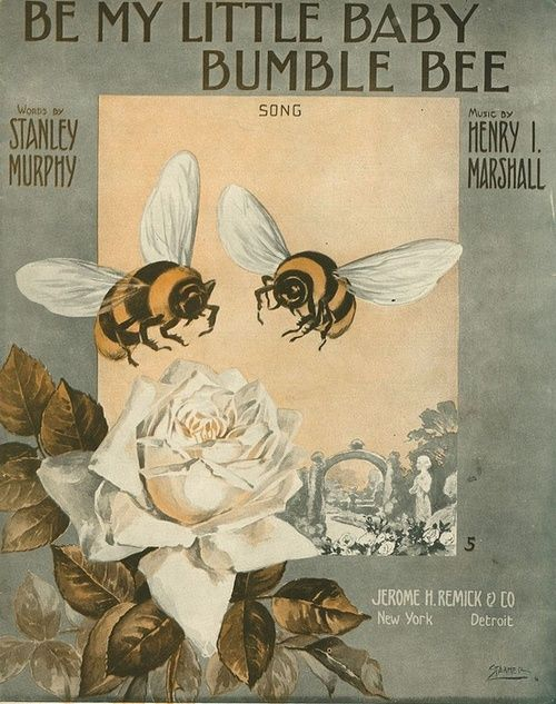≗ The Bee's Reverie ≗ Playing on the Parlour Victrola: Be My Little Baby Bumble Bee, Henry Marshall, 1912,