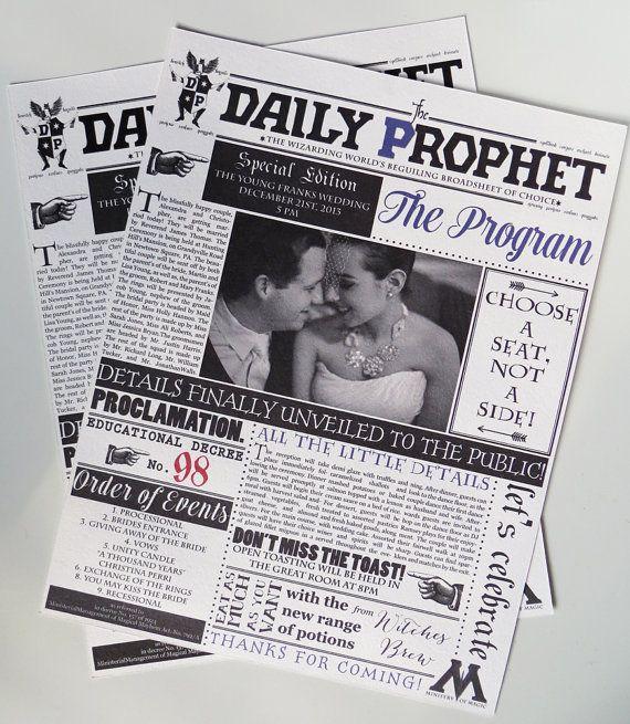 Harry Potter Wedding Invitation Suite por AbbieLeeDesigns en Etsy