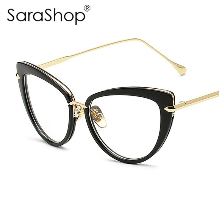 SARA SHOP Women Cat Eye Sunglasses Brand Designer Eyewear Frames Women Optical Eyeglasses A127