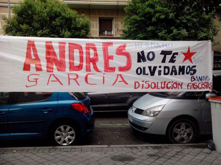 Andrés Garcia, Crimenes fascistas, Falsa Transición, Verdad, Justica, Reparación, ¡Andrés hermano, no te olvidamos!