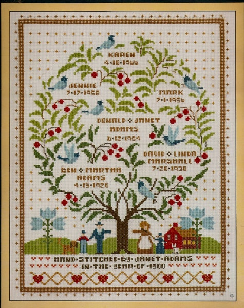 Family Tree of Life Cross Stitch