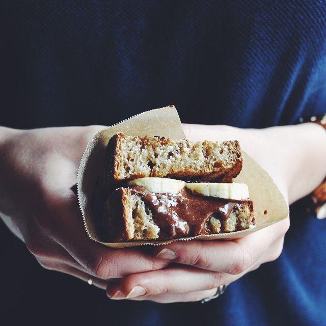 Sky High Banana and Homemade Nutella Sandwich
