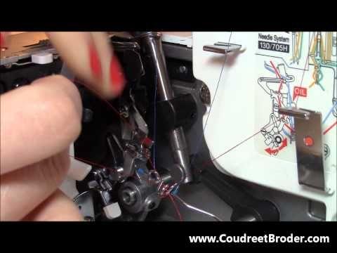 Enfilage surjeteuse Bernina 800DL - YouTube
