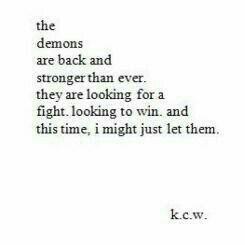 demon, depression, and quote image