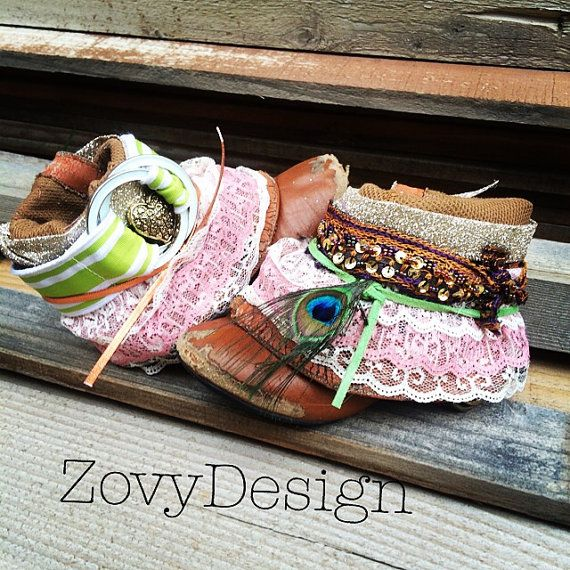 Up Cycled Vintage Boho Toddler Cowgirl Boots Hippy by zovydesign, $40.00. Must have :)