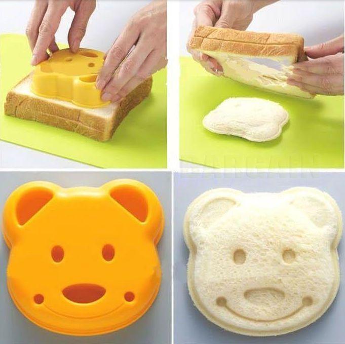Lovely Cartoon Bear Bread Mould Sandwich Cutter Sugarcraft Cake Cookie Mold DIY  | eBay