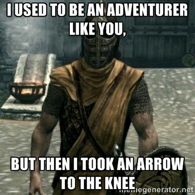 Image result for arrow to the knee