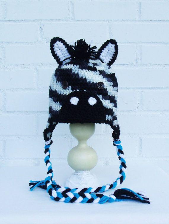 Retrouvez cet article dans ma boutique Etsy https://www.etsy.com/ca-fr/listing/246277361/tuque-en-tricot-bonnet-de-zebre-chapeau