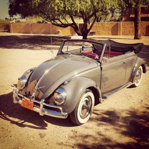 Bug-Käfer cabrio. Mine was a Lucerne Blue, a fun car!