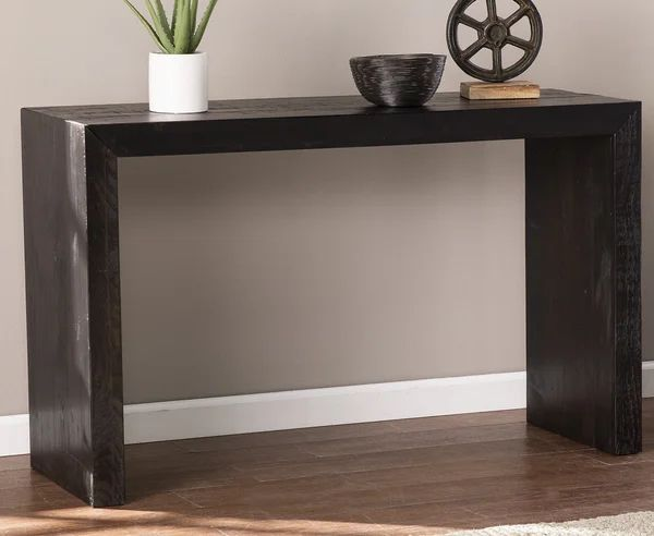 Gunnar Industrial Solid Wood Console Table Allmodern Console Table Contemporary Console Table Modern Furniture Living Room