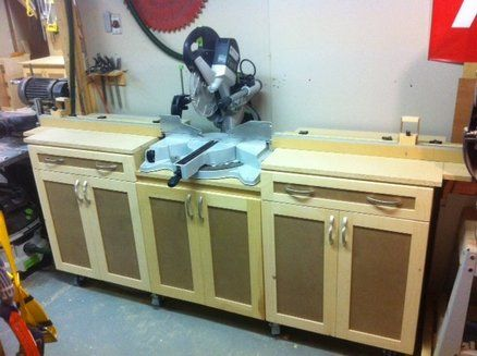 136 Best Images About Workshop Miter Saw Tables On