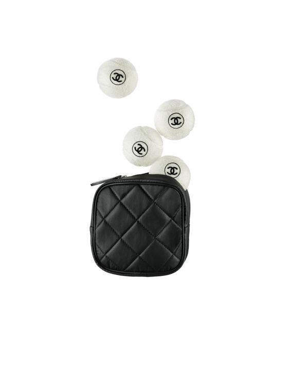 Palle da tennis, tela & elastam-bianco & nero - CHANEL