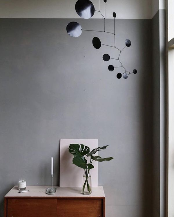 Grey Wall with Black Mobile | My Scandinavian Home