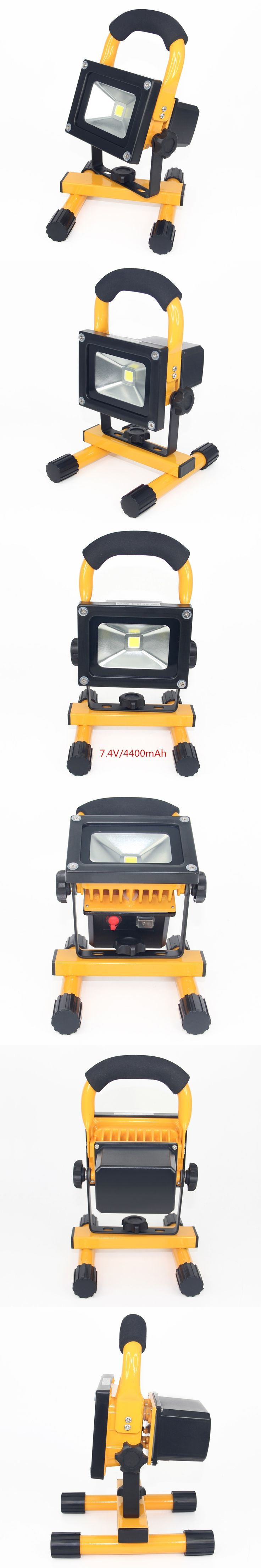 10W LED Flood Light rechargeable IP65 Waterproof camping lamp Spotlight LED Outdoor Street Wall Lamps Exterior Lighting F024