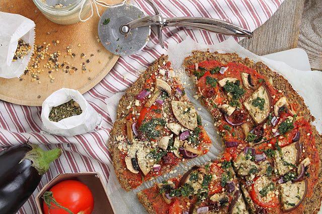 žít vege: pizza z květákového těsta bez mouky