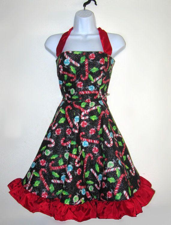 Christmas Rockabilly Party Dress by RavenBombshell on Etsy, $119.00