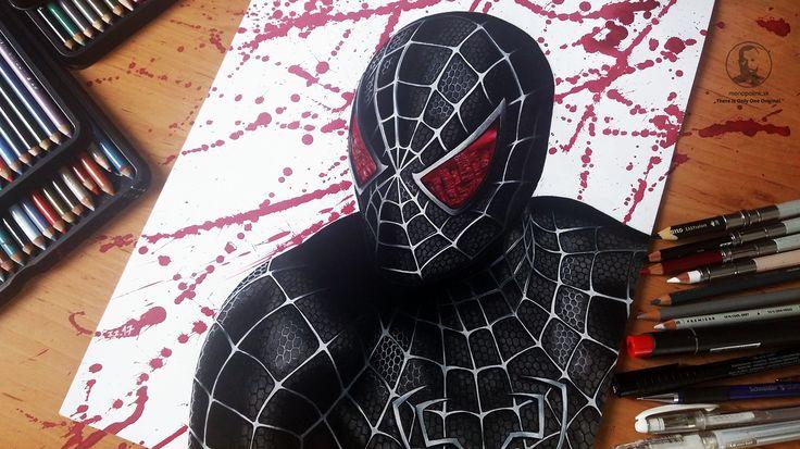 Spiderman marvel black spiderman