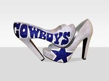 possibly wear these under the wedding dress  Dallas Cowboys High Heels!!