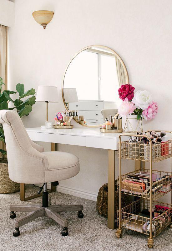 20 besten Make-up Eitelkeiten & Cases für stilvolle Schlafzimmer – Joligrace