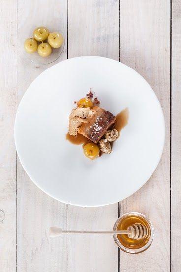 boczek confit z miodem / bacon confit with honey /   Concordia taste
