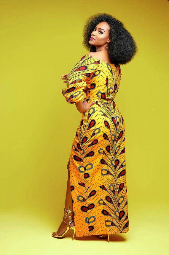 Afrikaanse jurken voor vrouwen. Ankara jurk. van TrueFond op Etsy