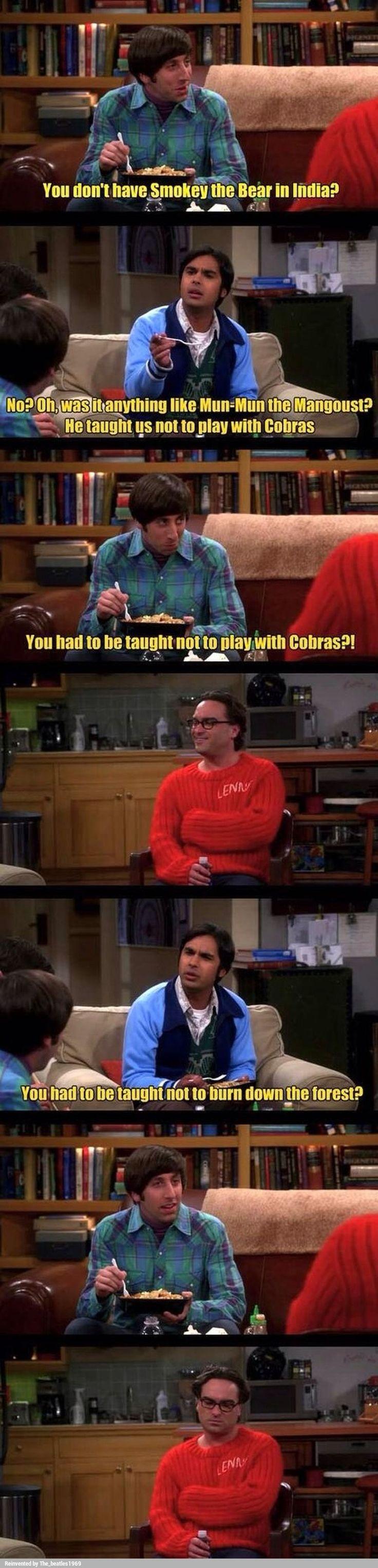 Smokey the Bear xD (The Big Bang Theory)